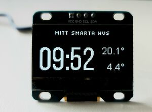 Time & Temperature on OLED Display