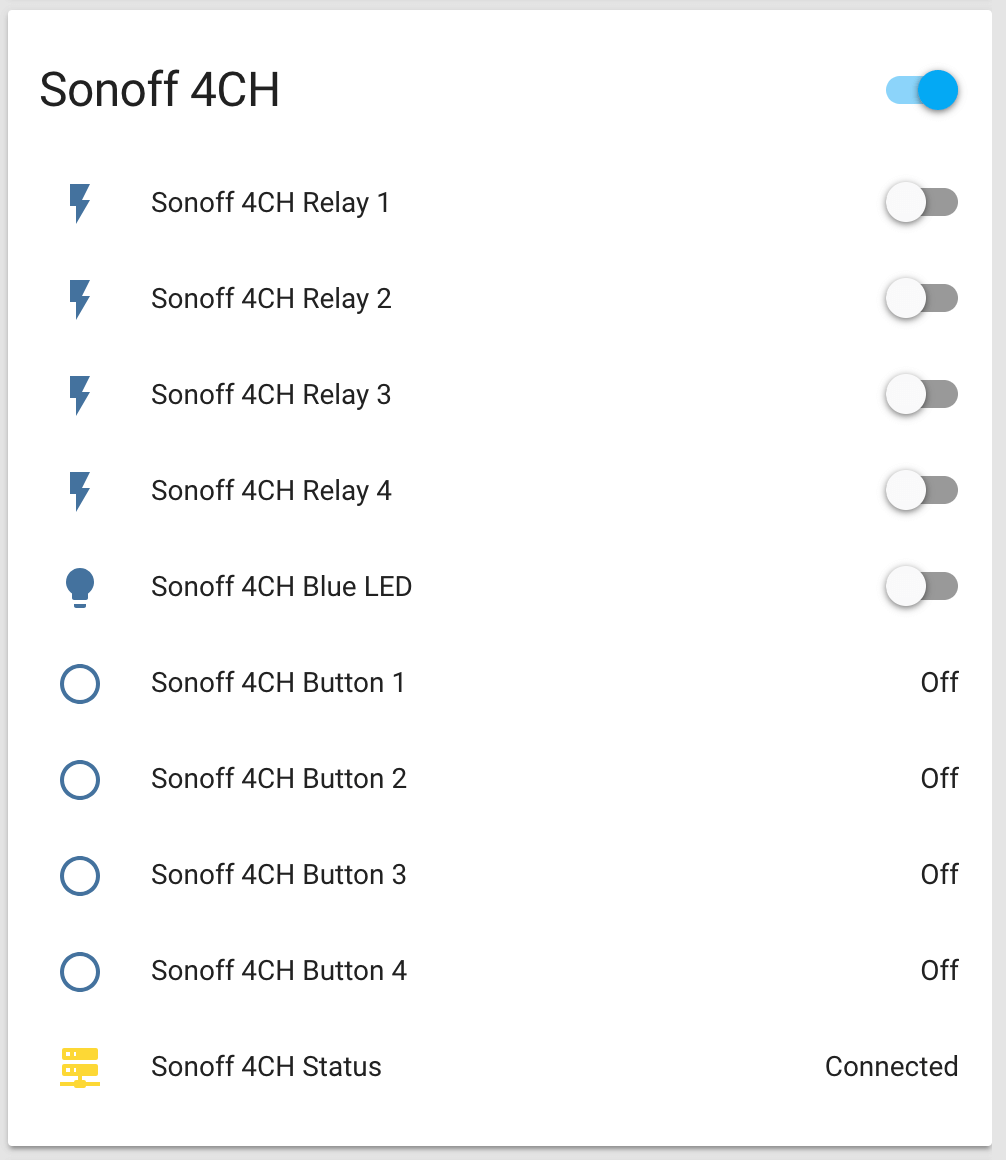 Using With Sonoff 4CH — ESPHome