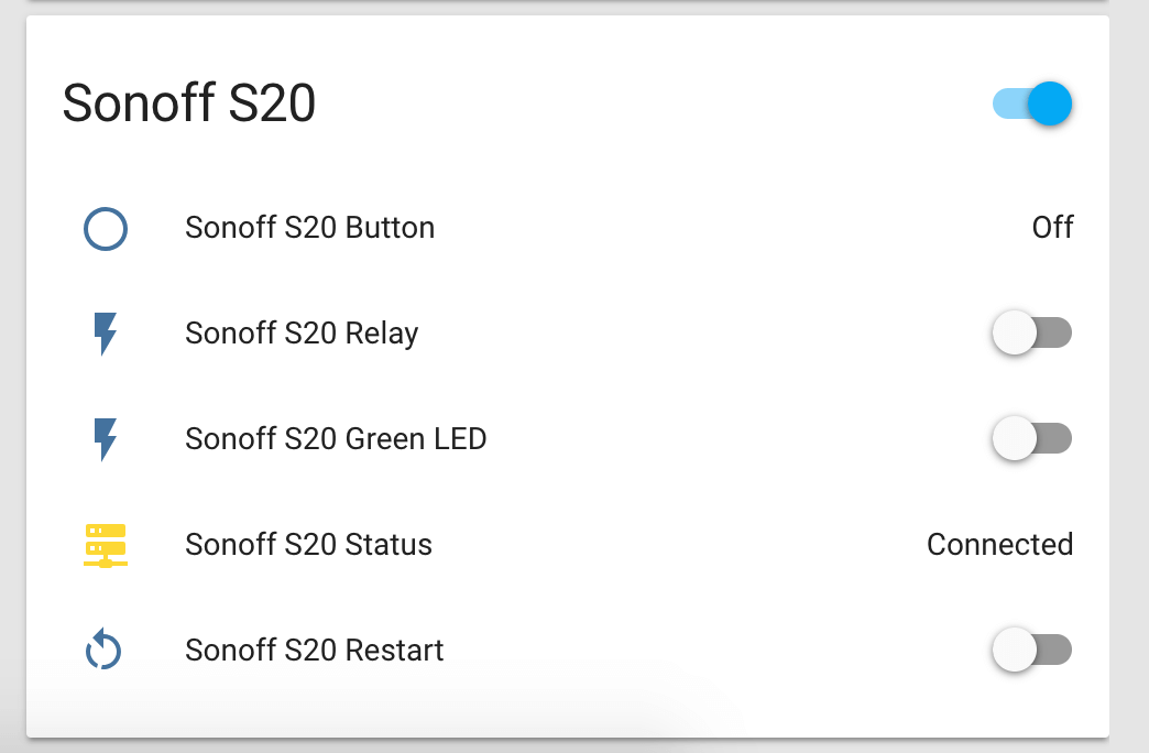 Using With Sonoff S20 — ESPHome