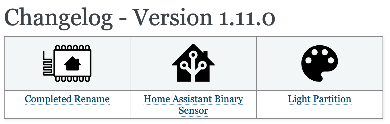 Changelog - Version 1 11 0 — ESPHome